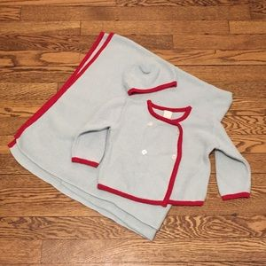 Tea Sz M Sweater & Blanket Set